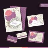 Sparen de de uitnodigingskaart van het datumhuwelijk Stock Foto