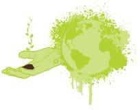 Sparen de groene planeet royalty-vrije illustratie