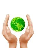Sparen de groene planeet Stock Foto