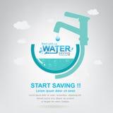 Sparen de het Beginbesparing van het Water Vectorconcept Stock Foto