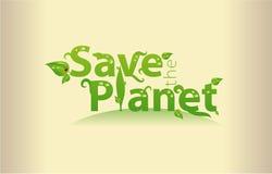 Sparen de Planeet stock illustratie