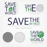 Sparen de wereld Royalty-vrije Stock Afbeeldingen