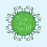 Sparen de wereld, kaart Stock Fotografie