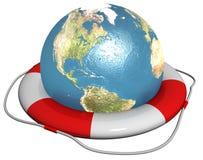 Sparen der Erde Lizenzfreies Stockfoto
