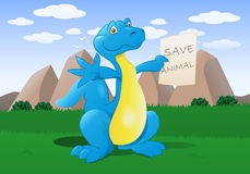 Sparen dinosaurus Stock Foto's