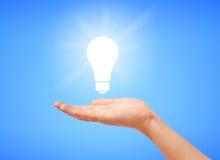 Sparen elektriciteitsconcept Stock Afbeelding