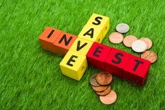 Sparen en investeer royalty-vrije stock foto's