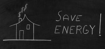 Sparen energie Royalty-vrije Stock Foto