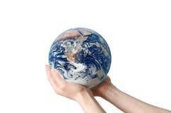 Sparen geïsoleerdes de Aarde van het Milieu Stock Fotografie