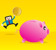 Sparen geld stock illustratie