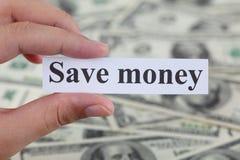 Sparen geld Stock Fotografie