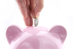 Sparen geld Royalty-vrije Stock Afbeelding
