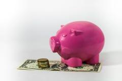 Sparen geld Royalty-vrije Stock Afbeeldingen