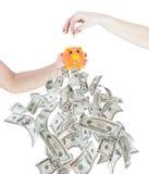SPAREN GELD INVESTEER EN VERDIEN royalty-vrije stock afbeelding