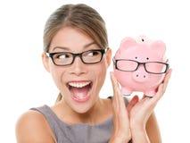 Sparen geld op eyewear glazen Royalty-vrije Stock Afbeeldingen