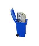 Sparen geld recycling Stock Afbeelding