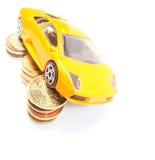Sparen geld voor auto Royalty-vrije Stock Foto