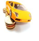 Sparen geld voor auto Royalty-vrije Stock Afbeelding