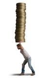 Sparen geldconcept Stock Foto's