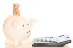Sparen geldsymbool Royalty-vrije Stock Foto