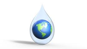 Sparen het 3d de illustratieconcept van het aardewater Royalty-vrije Stock Afbeeldingen
