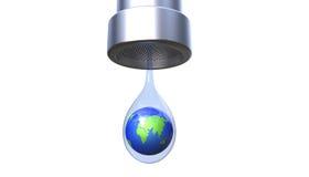 Sparen het 3d de illustratieconcept van het aardewater Stock Fotografie