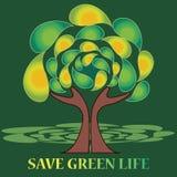 Sparen het groene leven Royalty-vrije Stock Foto