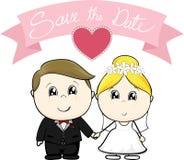 Sparen het huwelijk van het datumbeeldverhaal royalty-vrije illustratie