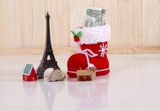 Sparen het nieuwe jaar van de geldreis Stock Afbeelding