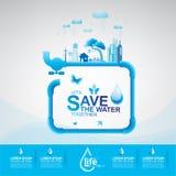 Sparen het waterconcept Stock Afbeelding