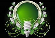 Sparen lightbulb in aardframe Royalty-vrije Stock Afbeeldingen
