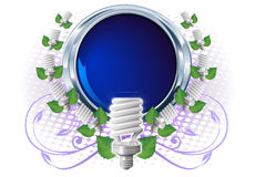 Sparen lightbulb in frame Royalty-vrije Stock Afbeelding