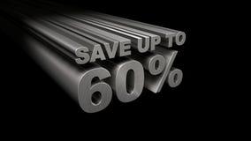 SPAREN MAXIMAAL 60% HOOGSTE MENING Stock Foto's