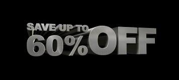 SPAREN MAXIMAAL 60% WEG Stock Afbeeldingen
