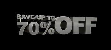 SPAREN MAXIMAAL 70% WEG Royalty-vrije Stock Afbeeldingen