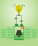 Sparen milieu en groen machtsconcept vector illustratie