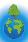 Sparen onze planeet stock illustratie