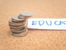 Sparen rekening en de bank van geldfinanciën voor bereid concept, stapel voor Stock Afbeelding
