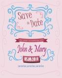 Sparen Sie das Datum für die Hochzeit Stockfotos