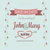 Sparen Sie das Datum für die Hochzeit Lizenzfreie Stockfotografie