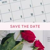 Sparen Sie das Datumskartendesign lizenzfreie stockfotografie