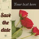 Sparen Sie das Datumskartendesign lizenzfreies stockfoto