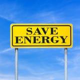 Sparen Sie Energie Stockbild