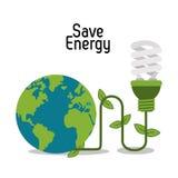 Sparen Sie Energiedesign Stockfoto