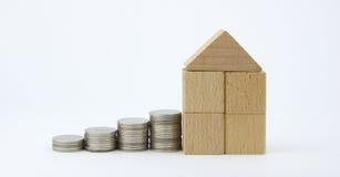 Sparen Sie Geld für Haus Lizenzfreie Stockfotografie