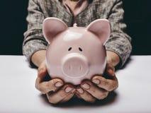 Sparen Sie Geld für hohes Alter Stockbild