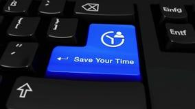 231 Sparen Sie Ihre Zeit-um Bewegung auf Computer-Tastatur-Knopf lizenzfreie abbildung