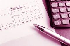 Analysieren Sie Haushaltswasserverwendung lizenzfreies stockfoto
