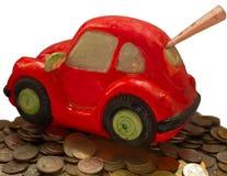 Sparen, spaarvarken Stock Fotografie