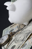 sparen in time geld Royalty-vrije Stock Foto